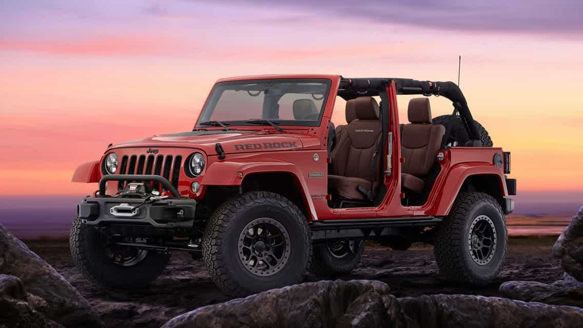 Вид Jeep Wrangler Red Rock.