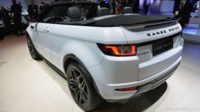 Land Rover Range Rover Evoque Convertible вид сзади.
