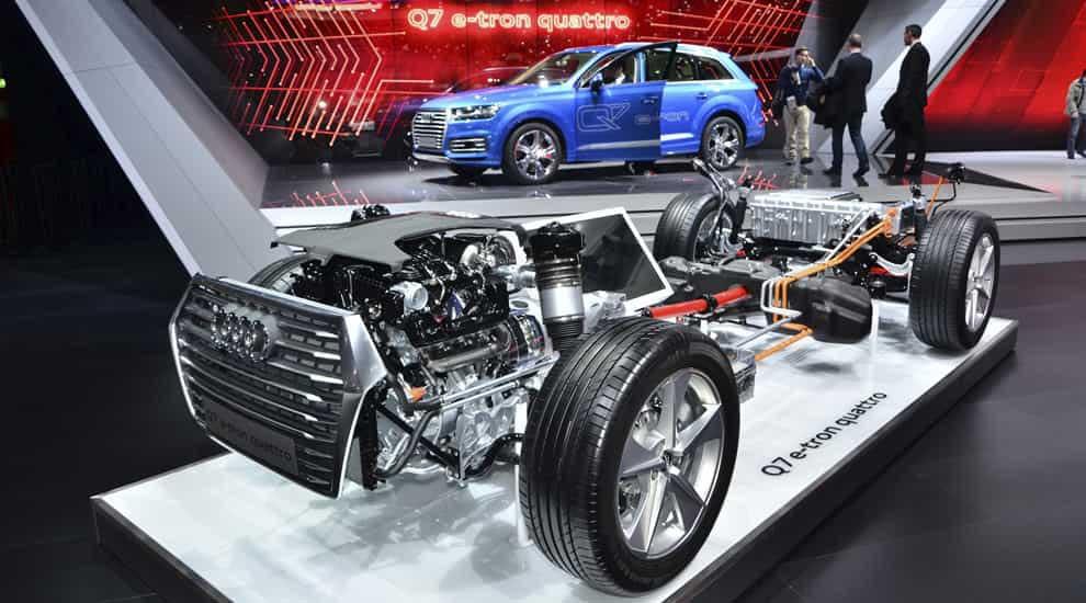 Audi Q7 e-tron 2016 шасси.