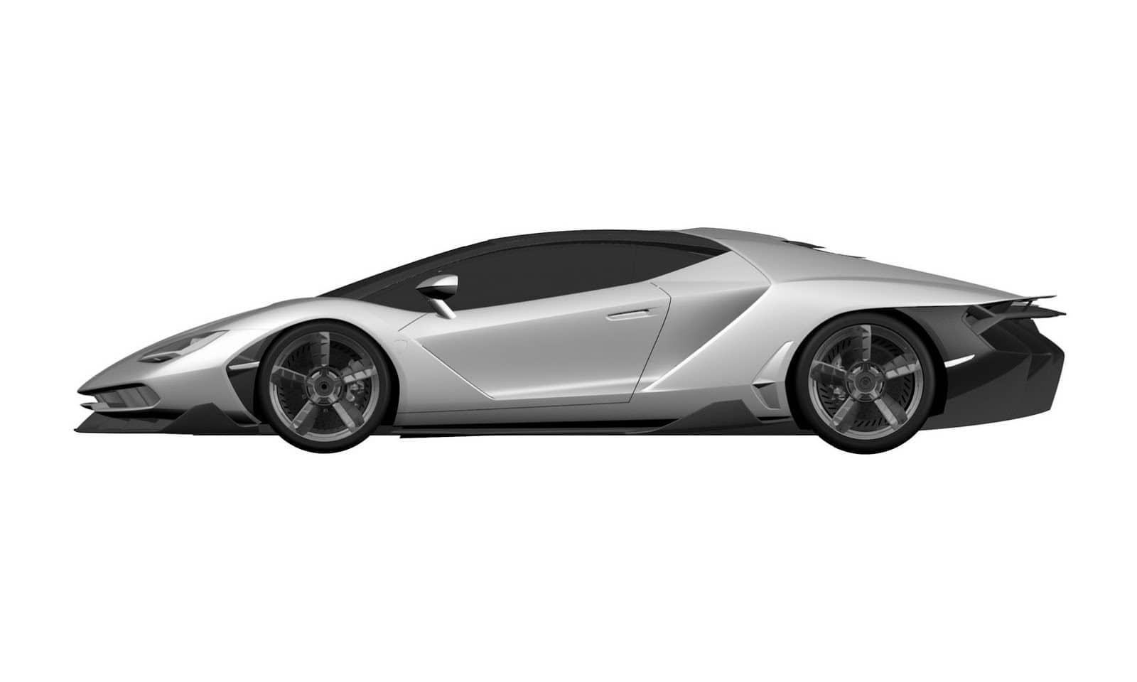 Lamborghini Centenario вид сбоку.
